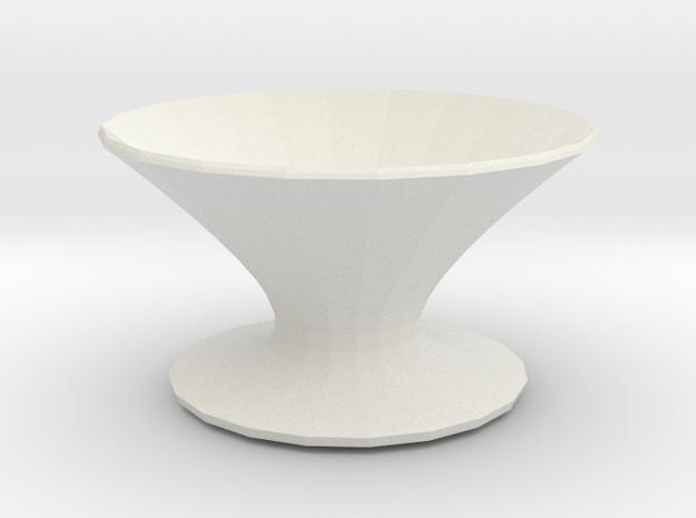 zorro vase in White Natural Versatile Plastic