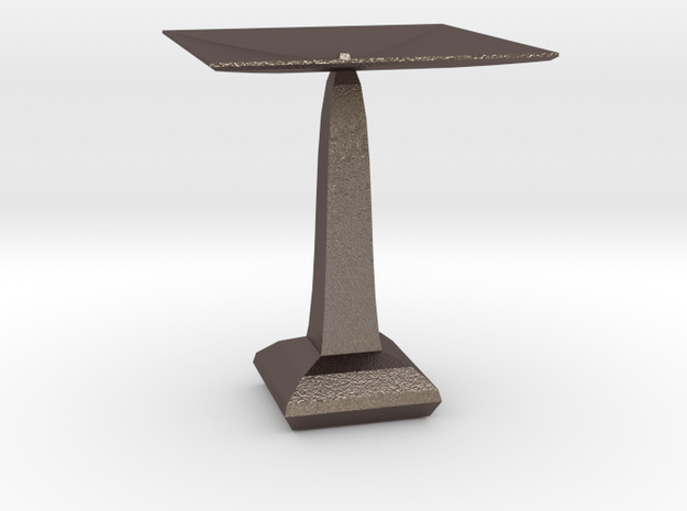 red cap table 5 in Polished Bronzed Silver Steel