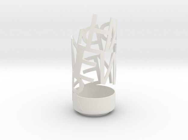happy new year pencil holder in White Natural Versatile Plastic
