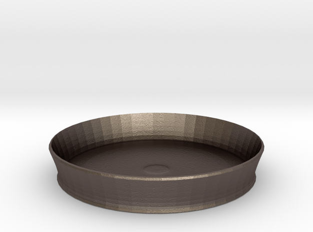 nero cake pan in Polished Bronzed Silver Steel