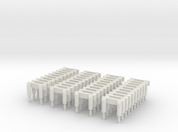 Buffer F239b 40 in White Natural Versatile Plastic