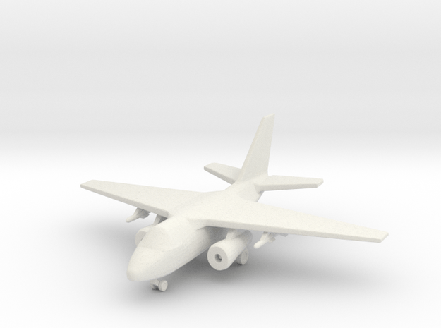 1/285 (6mm) S-3 Viking  in White Natural Versatile Plastic