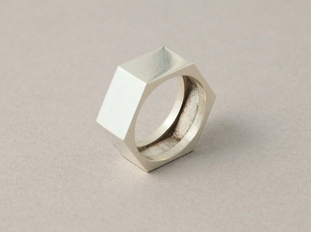 screw ring size 10 in Natural Silver