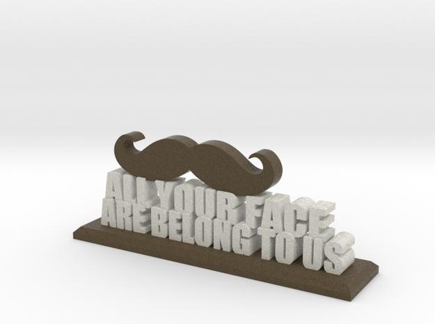 Mustache of Power in Full Color Sandstone