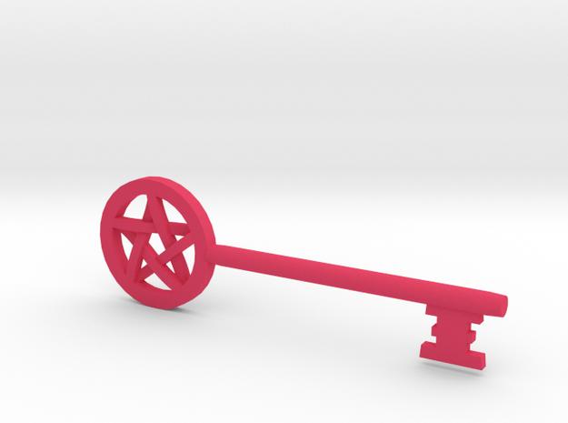 Pentacle Key  in Pink Processed Versatile Plastic