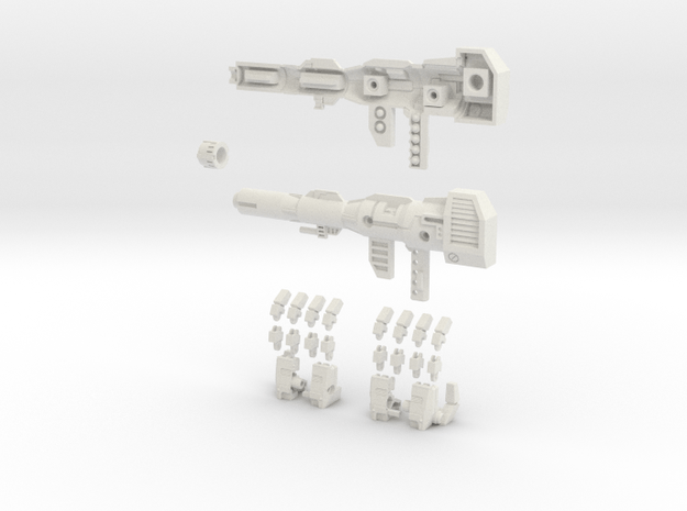 MP Prime Full Set 11-13 in White Natural Versatile Plastic