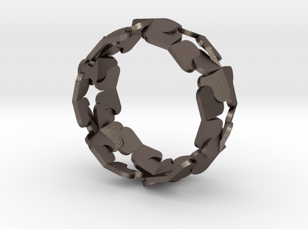 Bracelet by Andreas Fornemark in Polished Bronzed Silver Steel