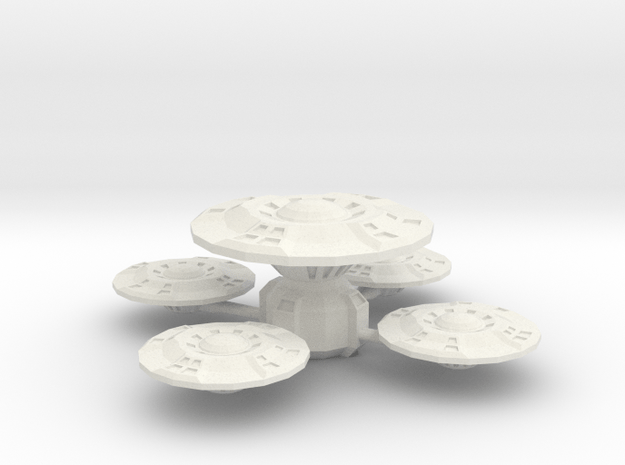 D 9 Space Station in White Natural Versatile Plastic