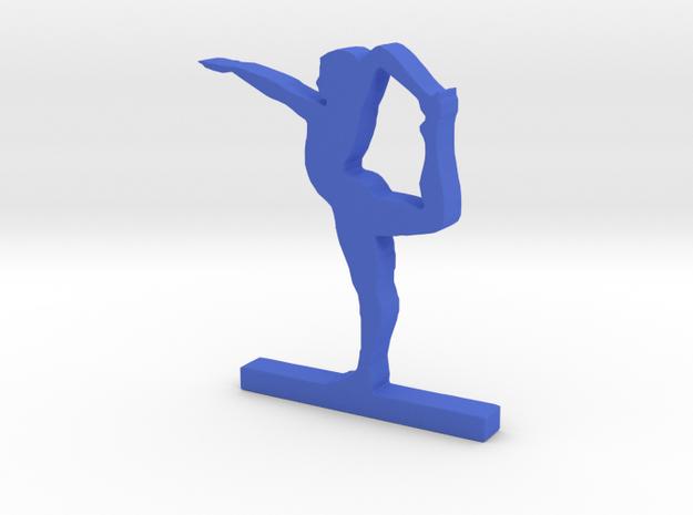 Yoga Pose ( Natarasana ) in Blue Processed Versatile Plastic