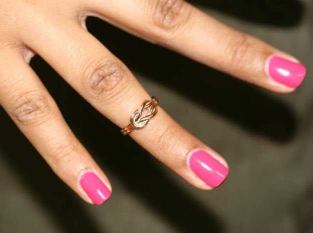 Knot Midi Ring in 14k Rose Gold