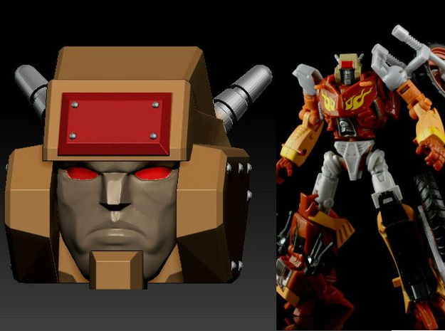 Metal Head's Head for TF Junk Wreck gar Junkion ho in Smooth Fine Detail Plastic