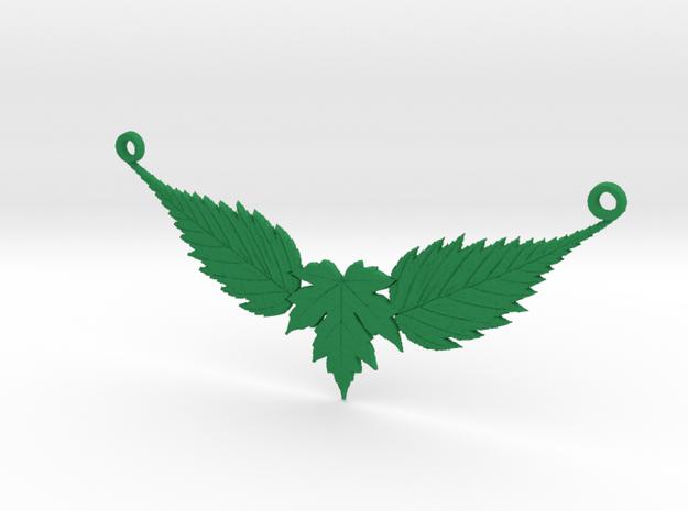 Leaf Necklace in Green Processed Versatile Plastic