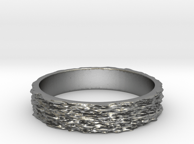 Hyperloop Ring Size 7 in Natural Silver