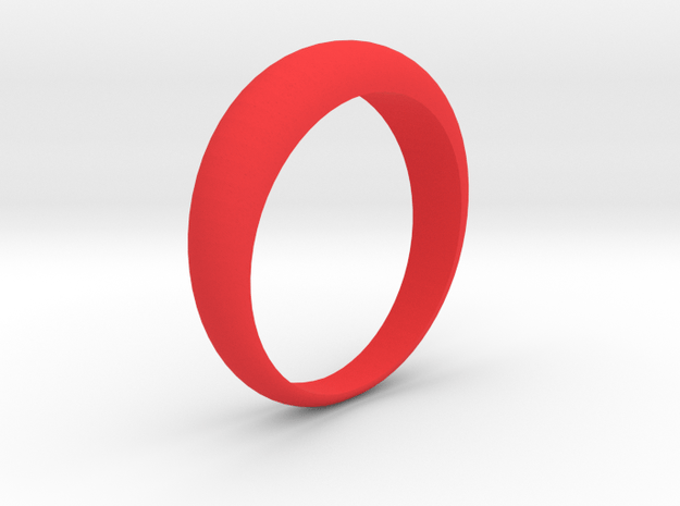 Simple Ring - Size 6,5 (Usa) in Red Processed Versatile Plastic