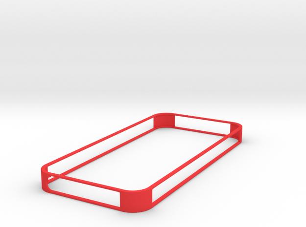 IPhone-5 bumper in Red Processed Versatile Plastic