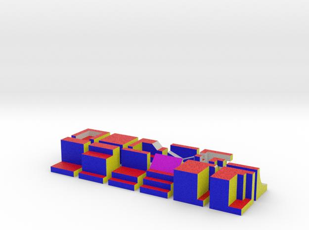 Blokken in Full Color Sandstone