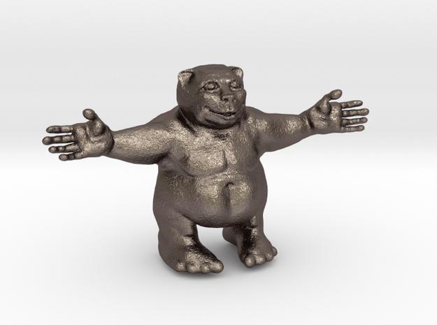 Huggy bear in Polished Bronzed Silver Steel