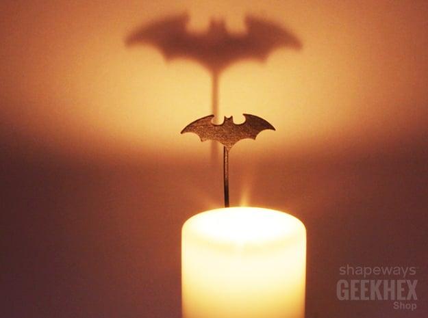 Batman 2003 - Spotlight Candle Attachment in Matte Black Steel