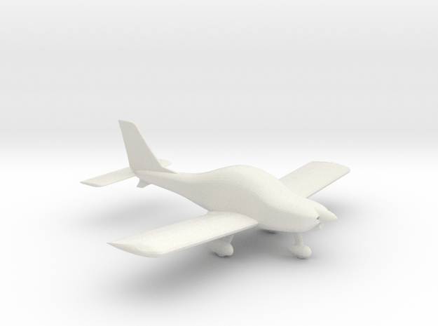 Texan Top Class Light Aircraft  1/87 HO Scale in White Natural Versatile Plastic