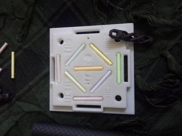 BETATAG  Tactical v3 IFF  Tritium Vial Holder in White Natural Versatile Plastic