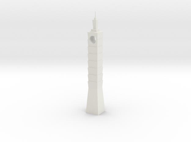 Taipei-101 in White Natural Versatile Plastic