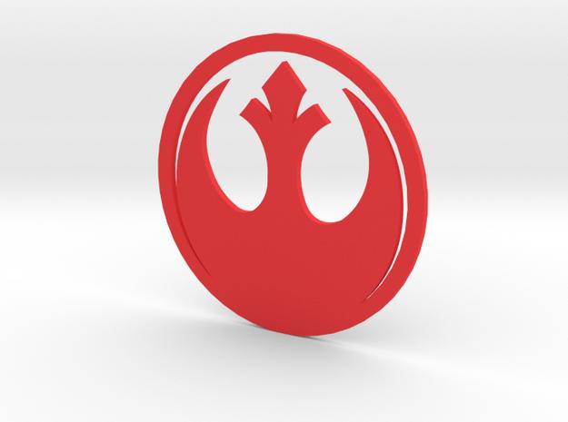 MK5 & MK6 Volkswagen Jetta Rebel Alliance Emblem E in Red Processed Versatile Plastic