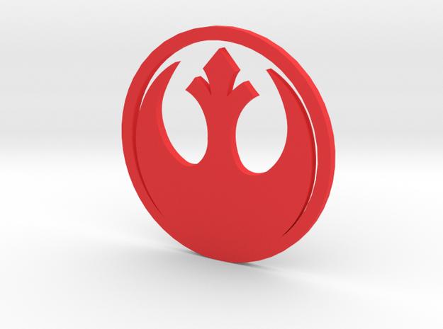 MK3 Volkswagen Golf Rebel Alliance Rear Emblem in Red Processed Versatile Plastic