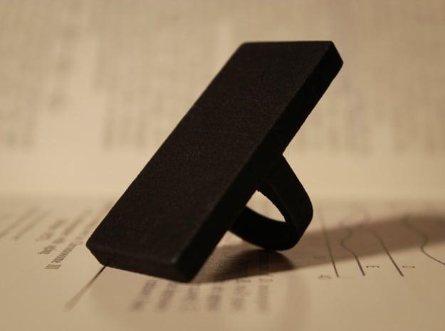 Monolith Ring in Black Natural Versatile Plastic