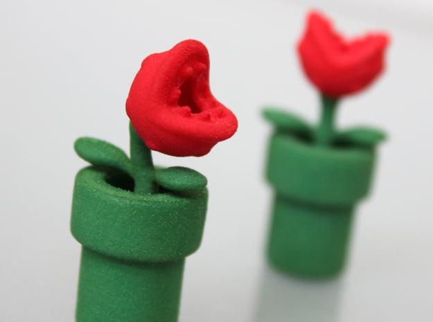 Man-eating Plant Valve Caps - Presta - part 1 of 2 in Green Processed Versatile Plastic