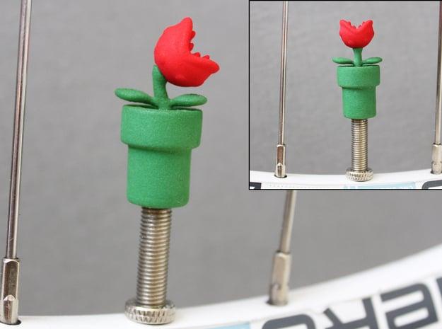 Man-eating Valve Caps - Schrader - part 1 of 2 in Green Processed Versatile Plastic
