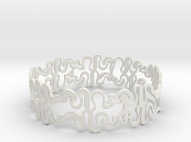 Swiggle Ring in White Natural Versatile Plastic