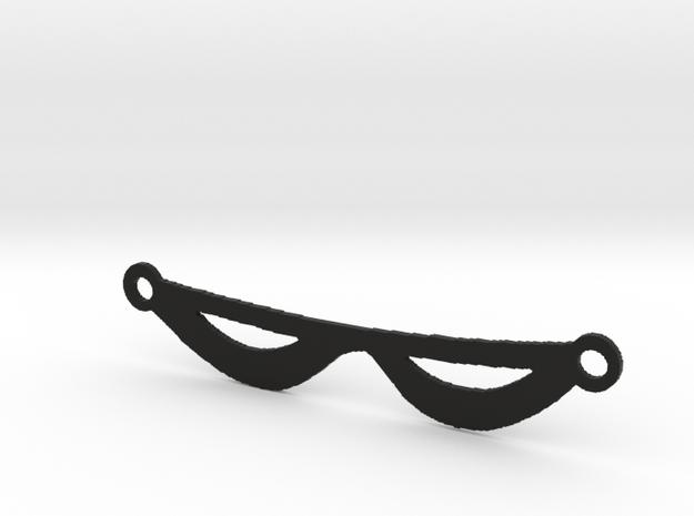 The Phantom's Eye Mask in Black Natural Versatile Plastic