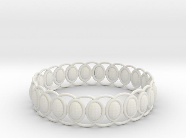 O Ring 2 in White Natural Versatile Plastic