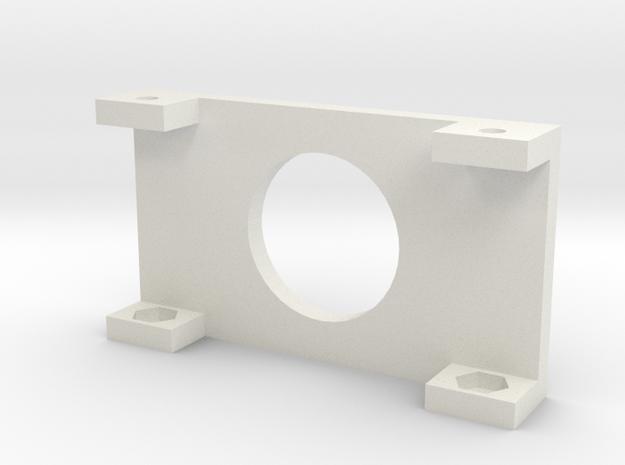 "20x4 LCD Mounting Bracket 1.5"" in White Natural Versatile Plastic"