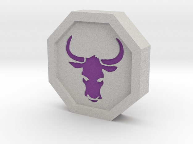 Ox Talisman in Full Color Sandstone