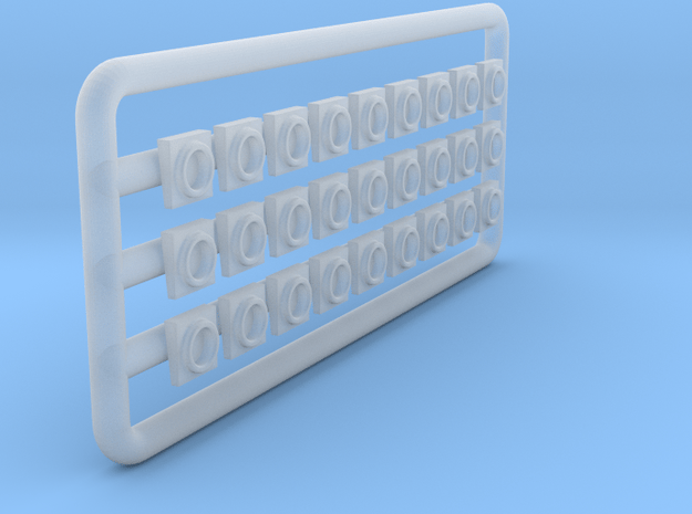 Conrail GE Marker Lights- HO scale in Smooth Fine Detail Plastic