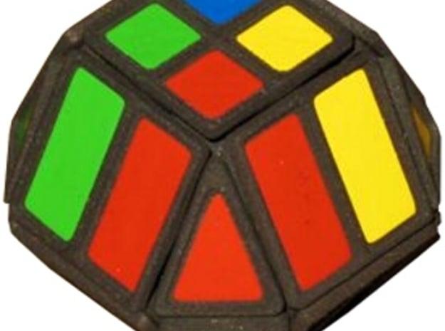 Hex Cube in White Natural Versatile Plastic