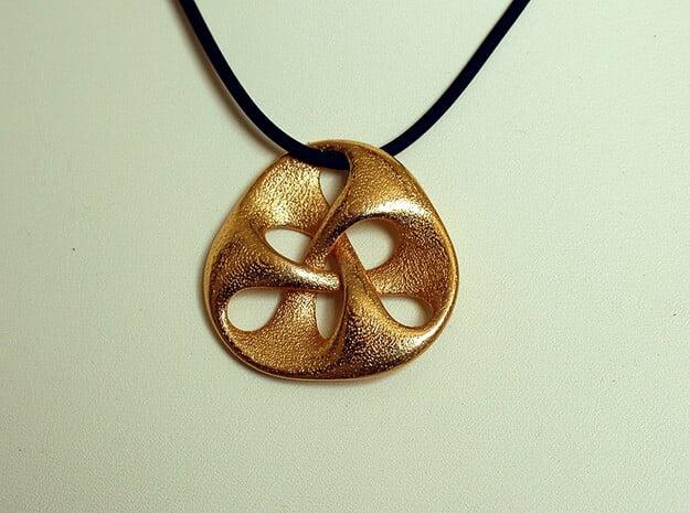 pendant III in Polished Gold Steel