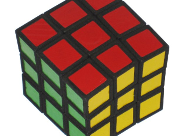 Distorted Cube in White Natural Versatile Plastic