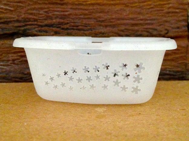 Laundry Basket in 1:12, 1:24 in White Processed Versatile Plastic: 1:12
