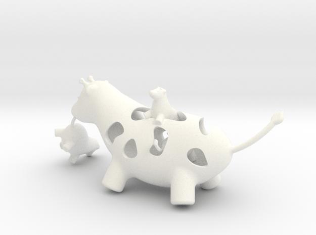 Mother Giraffe in White Processed Versatile Plastic