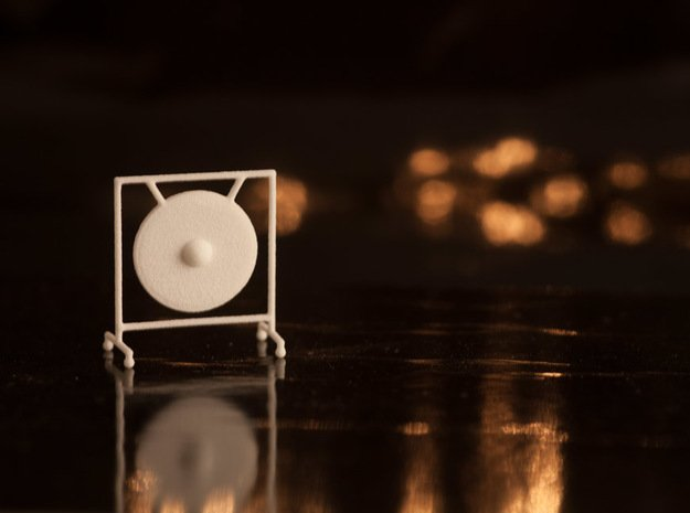 1:48 Gong in White Natural Versatile Plastic