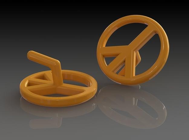 'SILENT PEACE' in Orange Processed Versatile Plastic