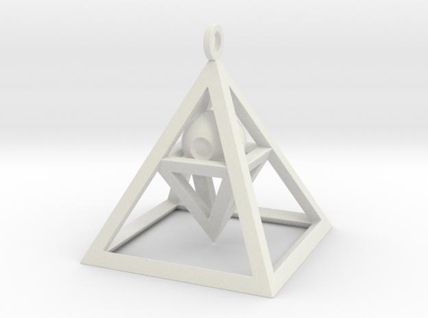 Sight of Pyramid Pendant in White Natural Versatile Plastic