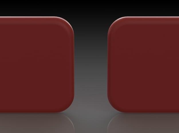 'TABS' in Red Processed Versatile Plastic