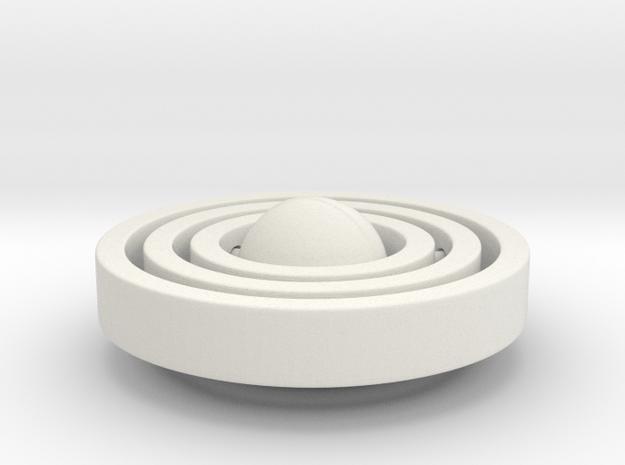 Galaxy Style Pendant in White Natural Versatile Plastic