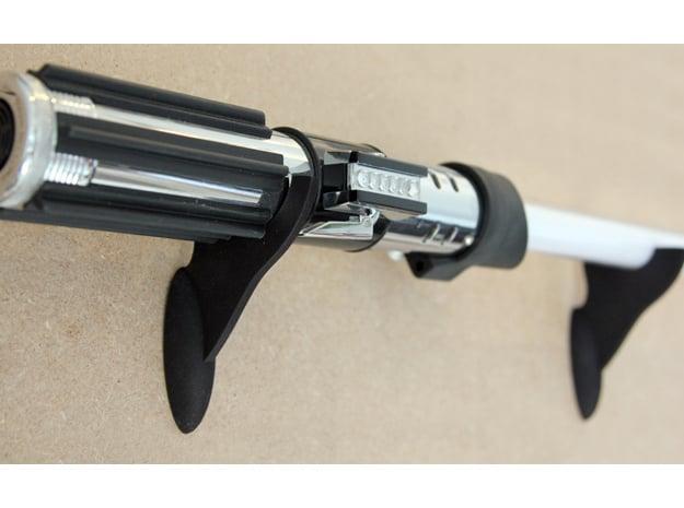 Force FX Lightsaber Stand in Black Natural Versatile Plastic