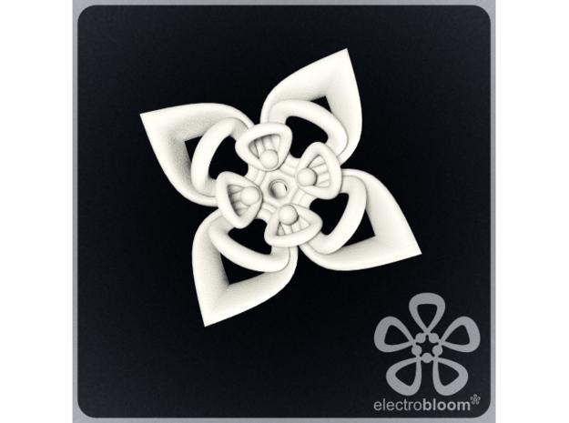 Sharon flower charm. in White Natural Versatile Plastic