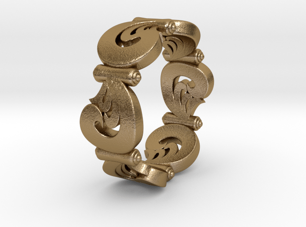 VORTEX SWELL in Polished Gold Steel