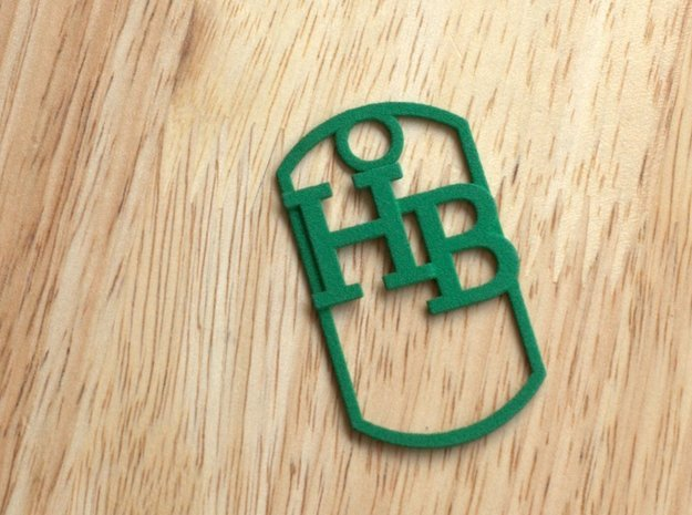 HB dog tag -- Hagerman Bobcats! in Green Processed Versatile Plastic